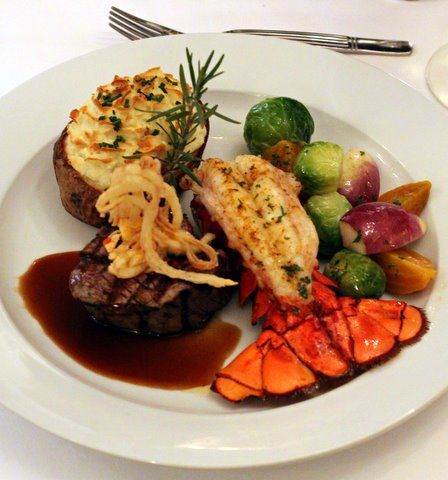 Image of Surf and Turf Entree Atlantic Hotel