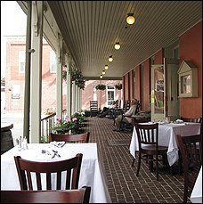 View of the porch at the Atlantic Hotel