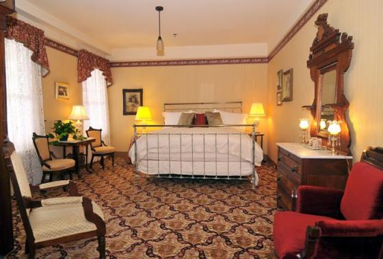 Image of Antique Iron Bed in Victorian Room Atlantic Hotel