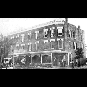 Early Century B&W Image of the Atlantic Hotel Berlin MD