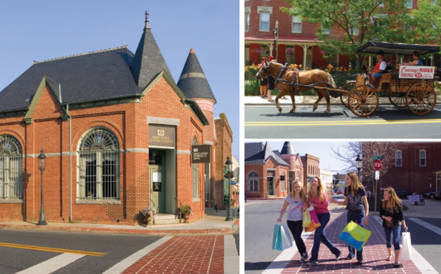 Tri Photo Collage of Main Street Berlin MD